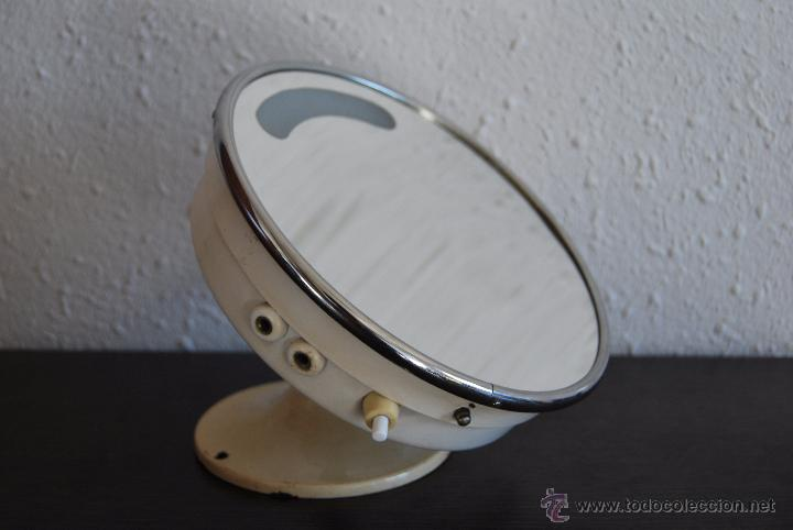 espejo de pared con luz para bao o tocador orientable lmpara aos