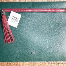 Vintage: CARTERA CLUNCH A ESTRENAR. TONO VERDE Y GRANATE.. Lote 51559509