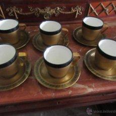 Vintage: SEIS TAZAS TERMO CON SU PLATO, ASA DESMONTABLE / THERMO SIX CUPS AND SAUCER VINTAGE. Lote 51706113