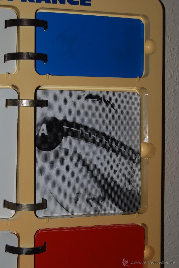 Vintage: CALENDARIO PERPETUO DE PARED DE LA COMPAÑÍA AEREA AIR FRANCE - AÑOS 60 70 - AVIÓN - OFICINA -VINTAGE - Foto 12 - 51724170