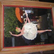 Vintage: CUADRITO SOBRE CRISTAL FIRMADO LLIVI. Lote 51801070