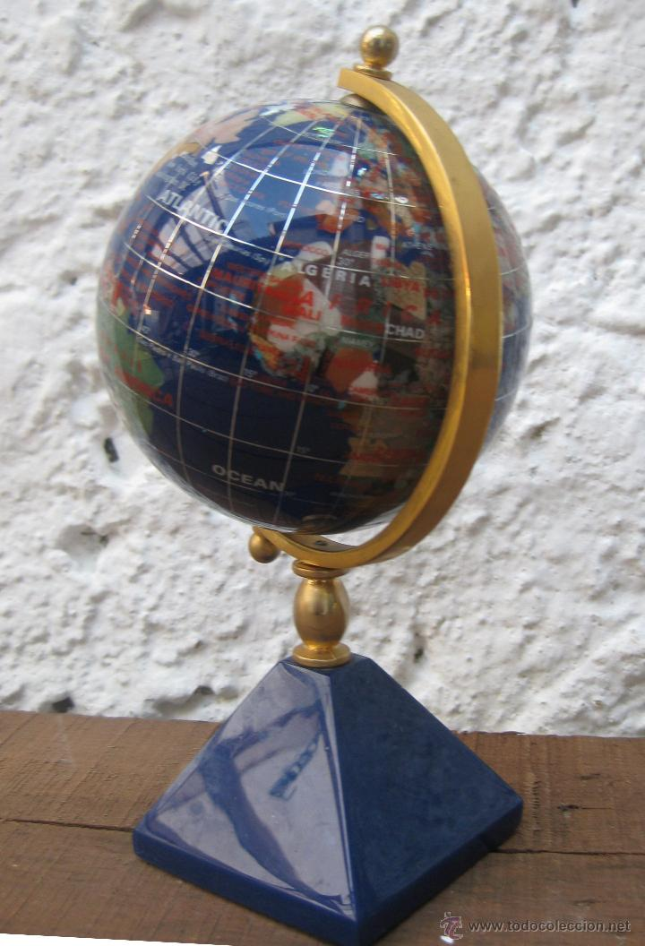 Bola del mundo de coleccion en lapislazuli y pi comprar - Bola del mundo decoracion ...