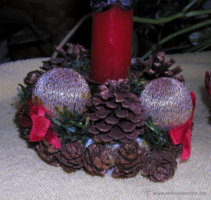 Lote de dos centros de mesa vintage para decora comprar - Centros de navidad con velas ...