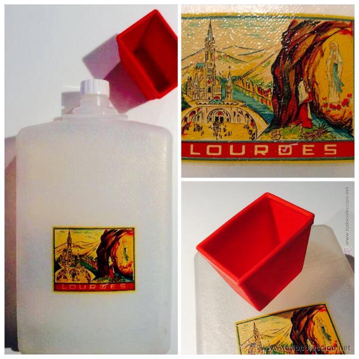 Vintage: Cantinplora años 60 viaje a Lourdes con vasito de plastico - Foto 7 - 49865828