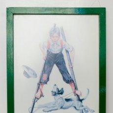 Vintage: LÁMINA DE NORMAN ROCKWELL- MARCO MADERA- 41,5 X 31,5 CM AÑOS 60. Lote 52418973