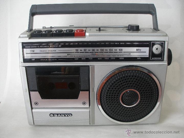 RADIO CASSETTE SANYO AÑOS 70 - 80 (Vintage - Varios)