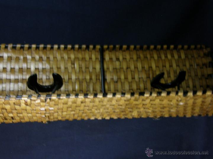 Vintage: perchero balda repisa hierro mimbre trenzado herraduras años 50 60 60x21x23cms - Foto 9 - 52674611