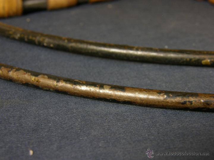 Vintage: perchero balda repisa hierro mimbre trenzado herraduras años 50 60 60x21x23cms - Foto 11 - 52674611