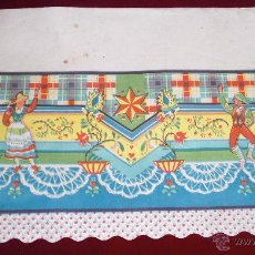 Vintage: ANTIGUA LAMINA DECORADA VINTAGE AÑOS 60 PARA DECORAR BALDAS DE ALACENAS Y DESPENSAS. Lote 52708040