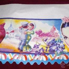 Vintage: ANTIGUA LAMINA DECORADA VINTAGE AÑOS 60 PARA DECORAR BALDAS DE ALACENAS Y DESPENSAS. Lote 52708104