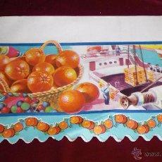 Vintage: ANTIGUA LAMINA DECORADA VINTAGE AÑOS 60 PARA DECORAR BALDAS DE ALACENAS Y DESPENSAS. Lote 52708118