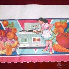 Vintage: ANTIGUA LAMINA DECORADA VINTAGE AÑOS 60 PARA DECORAR BALDAS DE ALACENAS Y DESPENSAS. Lote 52708124