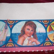 Vintage: ANTIGUA LAMINA DECORADA VINTAGE AÑOS 60 PARA DECORAR BALDAS DE ALACENAS Y DESPENSAS. Lote 52708137