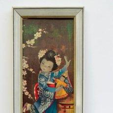 Vintage: MARCO VINTAGE CON JAPONESA - 42,5 X 29,5 CM. Lote 52709438