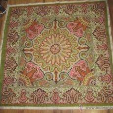 Vintage: PRECIOSA TELA BORDADA CON LENTEJUELAS, DE LA INDIA. MEDIDA: 101 X 100 CMS.. Lote 52727968