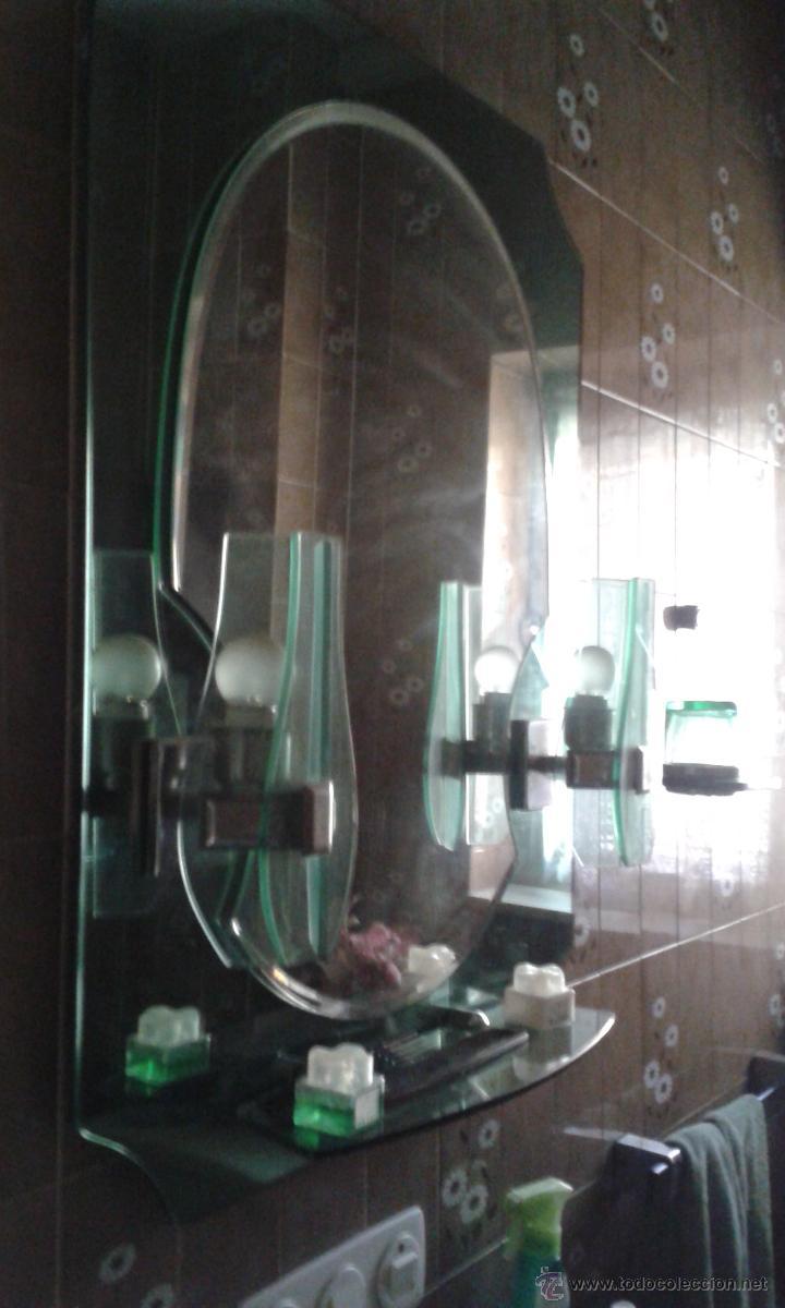 Conjunto ba o espejo con apliques y repisa m comprar for Conjunto accesorios bano baratos