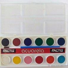 Vintage: CAJA DE ACUARELAS FACTIS.12 COLORES. AÑOS 80.. Lote 53147517