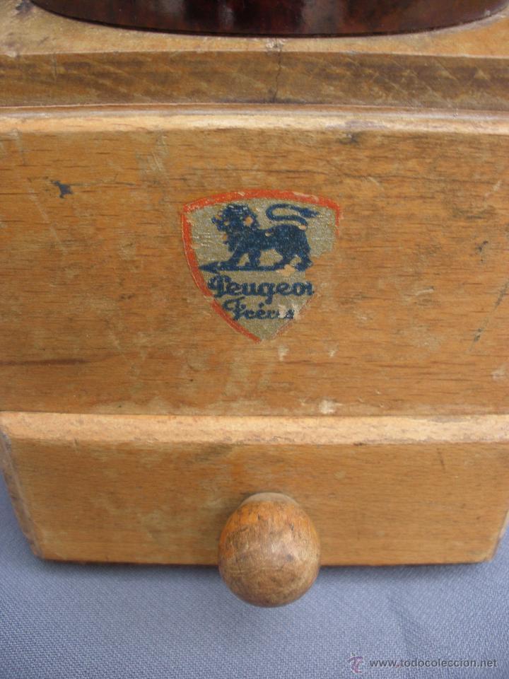 Vintage: Molinillo Peugeot FRERES MODELO LAQUÉ FRANCIA baquelita marrón vintage retro pop años 60 - Foto 5 - 53151991