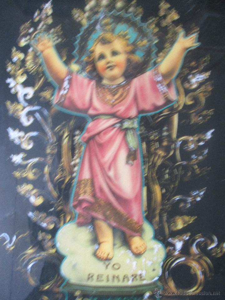 Vintage: CUADRO KITCH EN MADERA DEL NIÑO JESÚS AÑOS 60 - Foto 2 - 53182298