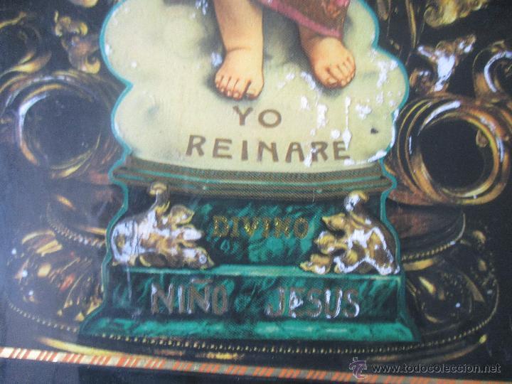 Vintage: CUADRO KITCH EN MADERA DEL NIÑO JESÚS AÑOS 60 - Foto 5 - 53182298
