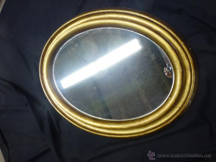 Vintage: Espejo vintage, en madera y pasta, dorado. - Foto 6 - 53191926