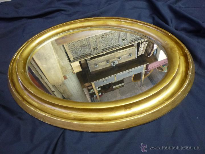 Vintage: Espejo vintage, en madera y pasta, dorado. - Foto 7 - 53191926