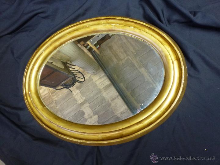 Vintage: Espejo vintage, en madera y pasta, dorado. - Foto 8 - 53191926