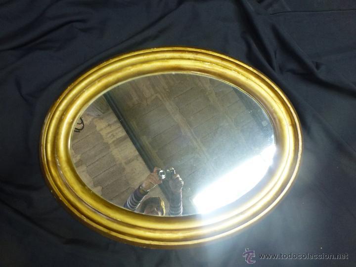 Vintage: Espejo vintage, en madera y pasta, dorado. - Foto 9 - 53191926