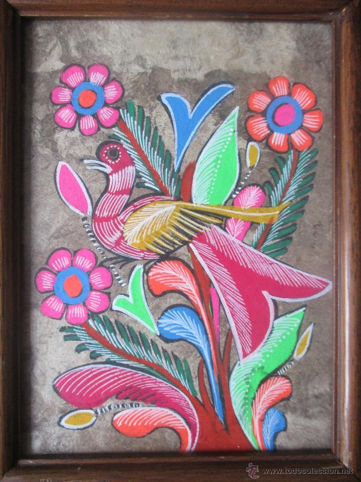 Pareja de cuadros pintados a mano sobre pap l a comprar for Cuadros pintados a mano