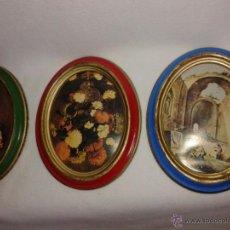 Vintage: 4 CUADRITOS OVALADOS. CUADROS RETRO.. Lote 53534242