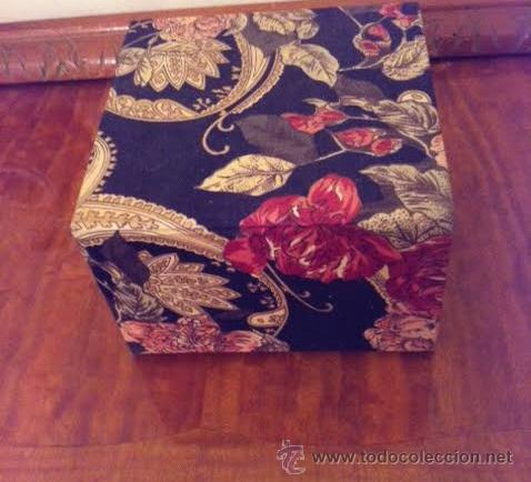 Vintage: Caja joyero forrado con tela muy vintage con espejo y cajones, - Foto 5 - 53712626