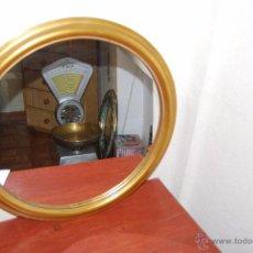 Vintage: ESPEJO DE MADERA REDONDO - AÑOS 60-70 - VINTAGE. Lote 182221337