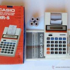 Vintage: CALCULADORA CASIO MINI PRINTING CALCULATOR. HR-5. PERFECTO ESTADO. VINTAGE. AÑOS 80. Lote 53818511