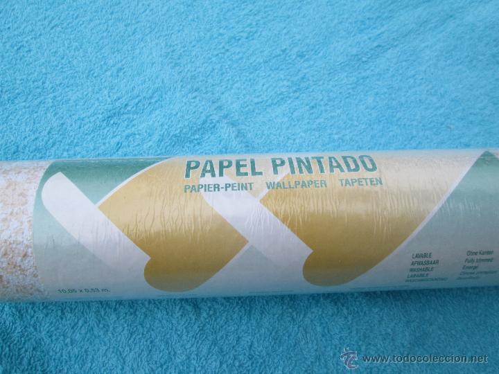 Antiguo rollo de papel pintado flores original comprar en todocoleccion 54068533 - Papel pintado anos 60 ...