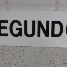 Vintage: ANTIGUO ROTULO SEGUNDO.METACRILATO? RETRO VINTAGE.AÑOS 70.. Lote 54164689