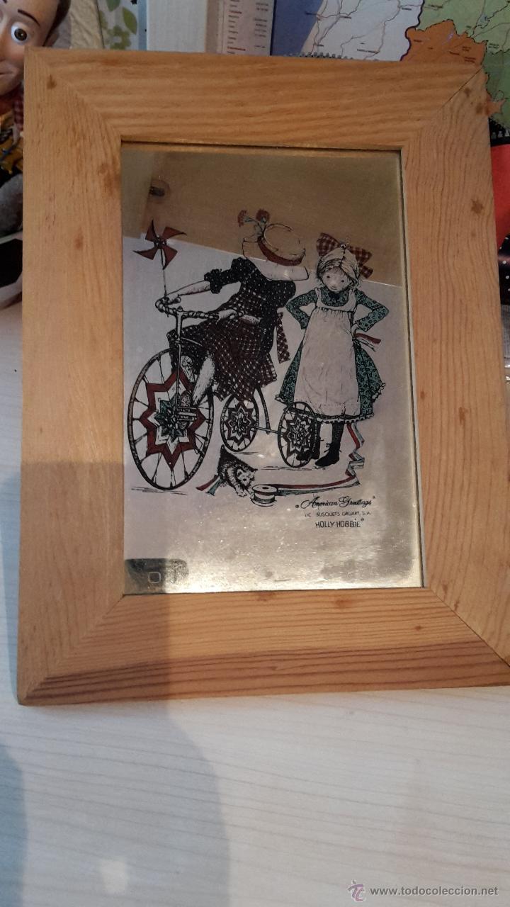 Vintage: Coleccionistas: Espejo vintage con marco de madera con maggie May de Holly Hobbie - Foto 2 - 54172822