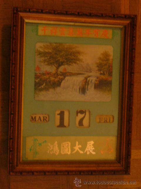 CALENDARIO ARTESANAL CON DATOS MOVIBLES DE FABRICACIÓN CHINA (Vintage - Decoración - Varios)