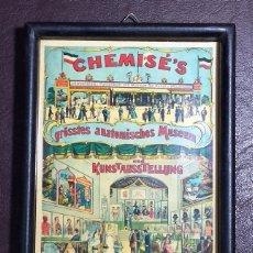 Vintage: CUADRITO DECORACIÓN CHEMISÉ'S GRÖSSTES ANATOMISCHES MUSEUM UND KUNSTAUSSTELLUNG 12*16 CMS.. Lote 54201514