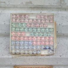 Vintage: LOTE DE 2 CAJAS DE BOLAS DE BINGO TAJUSA TECNICOS ASESORES DEL JUEGO S.A,AÑOS 70. Lote 54248309