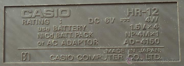 Vintage: CALCULADORA impresora Casio HR-12 - Foto 2 - 54251938