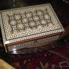 Vintage: CAJA MARQUETERÍA DE TURQUIA. Lote 54260713