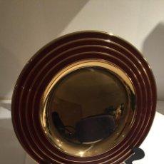 Vintage: PLATO DECORACION METAL DORADO. Lote 54361943