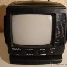 Vintage: TELEVISIÓN PORTÁTIL B/N + RADIO AM-FM. Lote 54378429