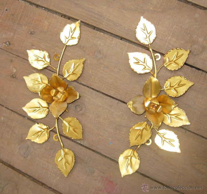 2 apliques embellecedor laton dorado para espej - Comprar en ...