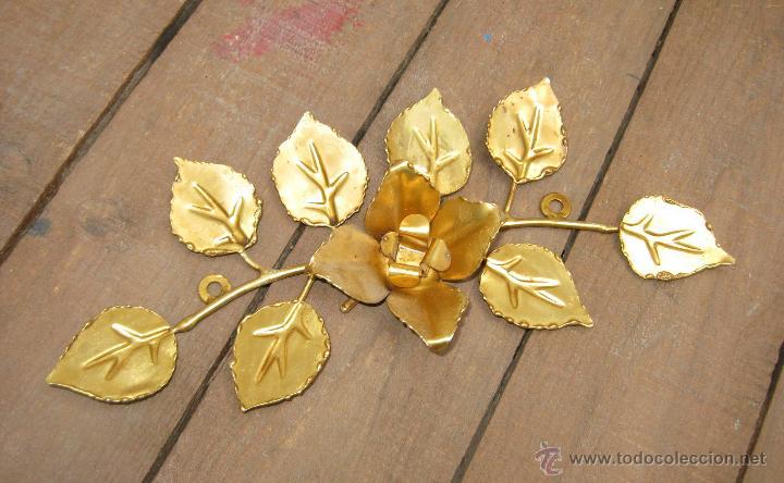 precioso aplique metal dorado hojas ideal decor - Comprar en ...