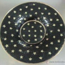 Vintage: PLATO BRONCE ESMALTADO VERDE. Lote 54510108
