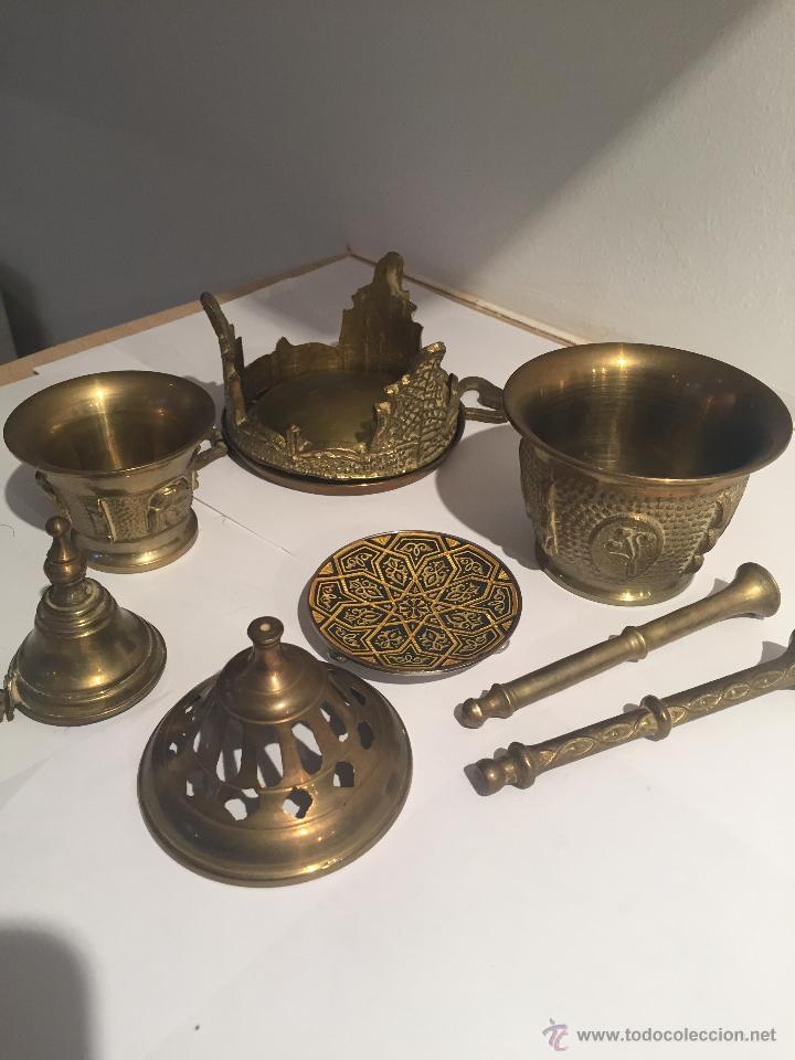 Conjunto objetos antiguos metal comprar en todocoleccion - Objetos vintage ...