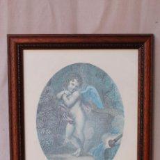 Vintage: CUADRO CON LAMINA ENMARCADO. Lote 54599464