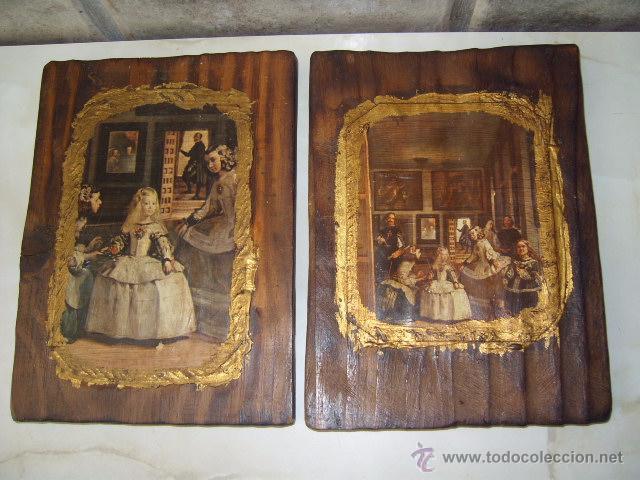 antiguo juego de cuadros de madera rustica.las - Comprar en ...