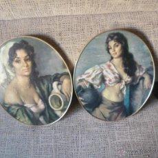 Vintage: LOTE DE 2 CUADROS OVALADOS, AÑOS 60. Lote 54651625
